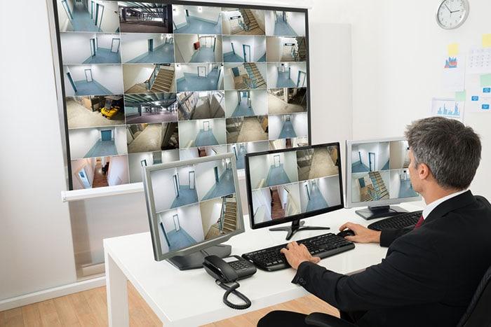 Central de monitoramento de CFTV