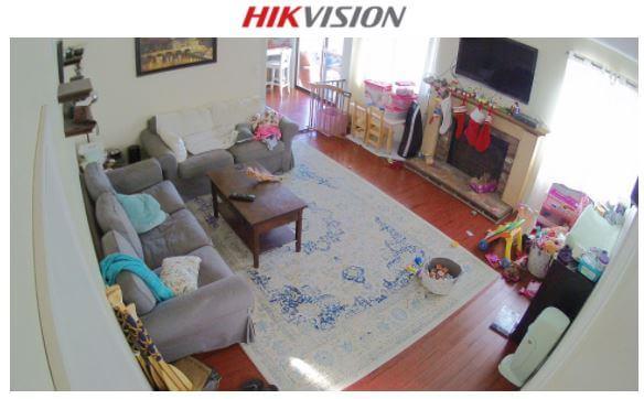 Câmera Hikvision em casa