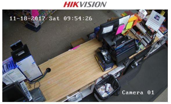 Câmera Hikvision em area estabelecimento comercial