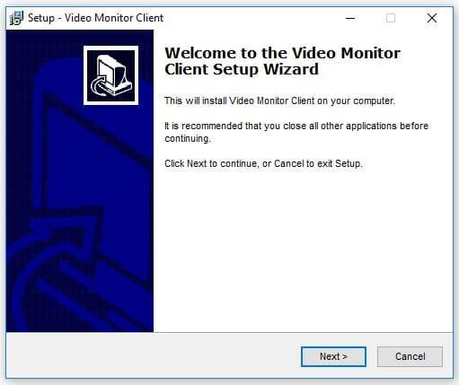 Instalando softwre para DVR tela inicial