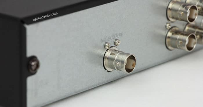 Saída analógica do DVR MHDX-100