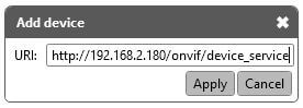 Onvif Device Manager Add Device