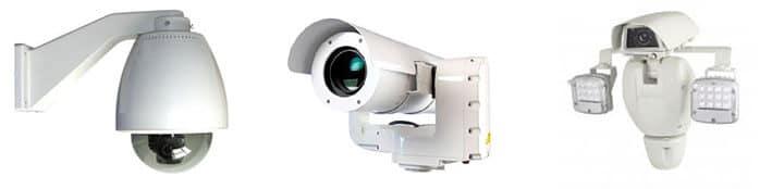 Câmeras com vidro de proteção