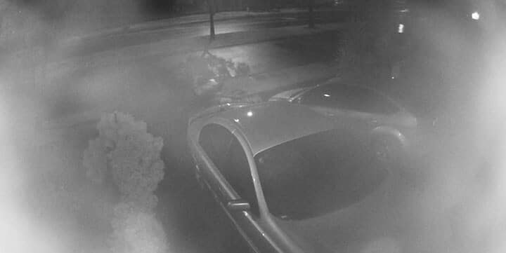 Security camera blurry at night