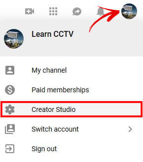 YouTube Create Studio