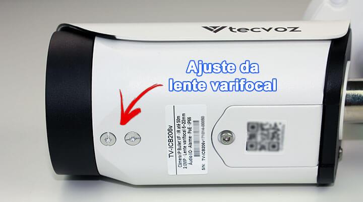 Parafuso de ajuste da lente varifocal