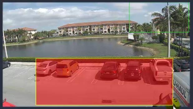 Análise inteligente de vídeo - configuração de área