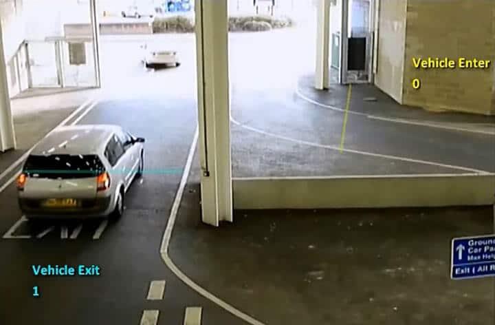 Análise de vídeo avançada - Entrada e saída de garagem