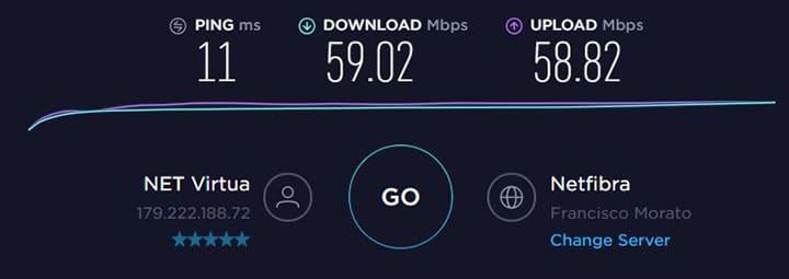 Medindo banda de Internet
