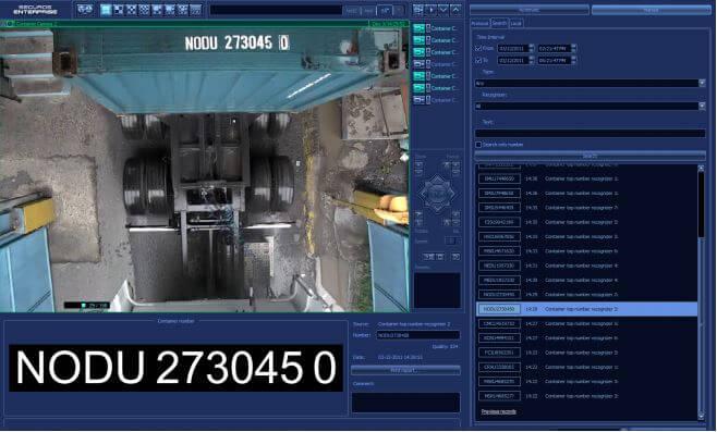 Análise de vídeo avançada - Leitura de container