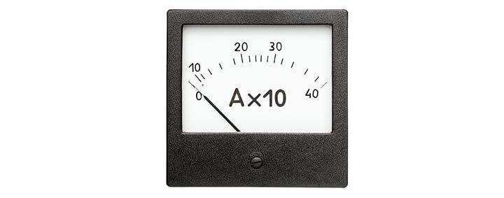 Amperimetro para medir corrente das câmeras
