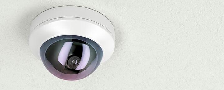 Câmera de segurança externa e discreta