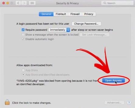 MAC OS Botão Abra de qualquer forma