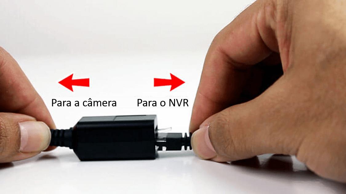 conexão da câmera IP para o NVR