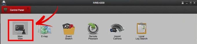 iVMS 4200 para MAC - botão Main View