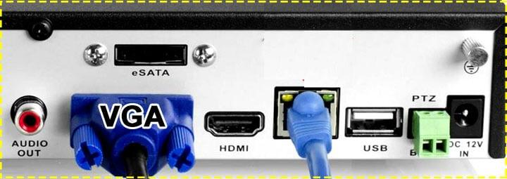 Conexão VGA do DVR Amcrest 960H