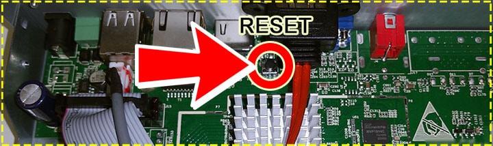 DVR  Amcrest botão de Reset