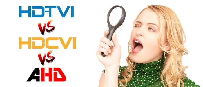Differences between TVI CVI and AHD
