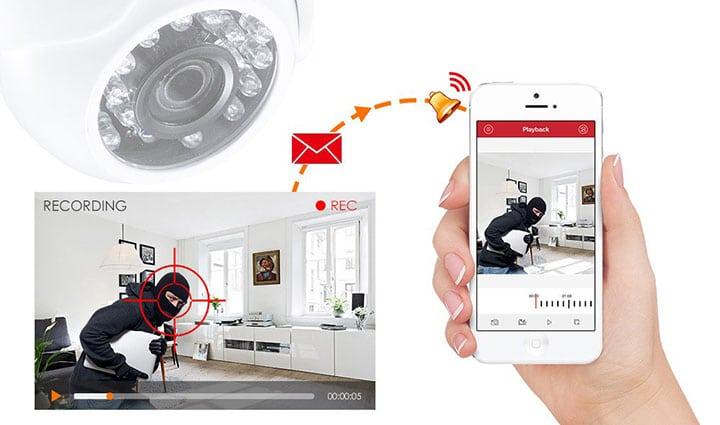 Câmera de segurança para pequenos negócios