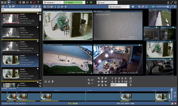 Software para gravação de câmera de segurança