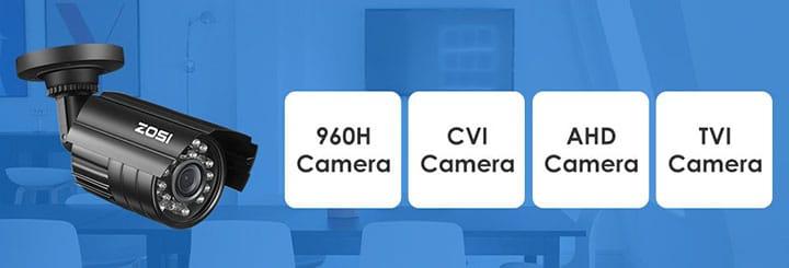 Câmera analógica com diferentes tecnologias