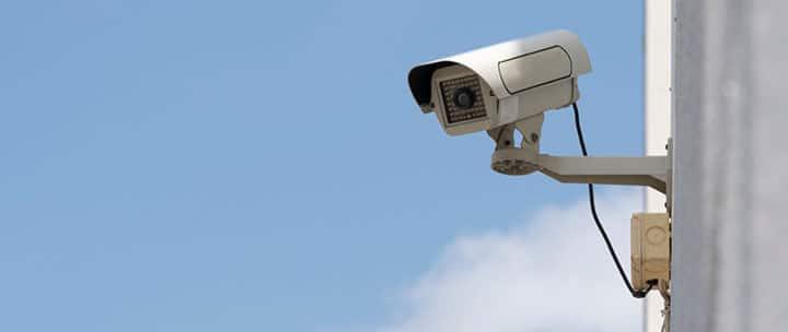Câmera de CFTV analógica