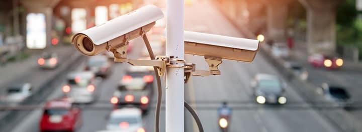 Câmeras de CFTV em projeto metropolitano