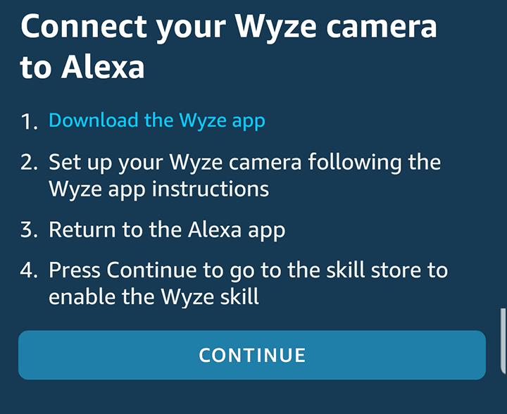 Conecte a Wyze Cam à Alexa