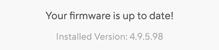 Versão do firmware