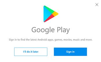 Login no Google Play