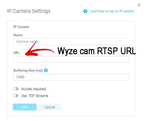 URL RTSP da Wyze Cam