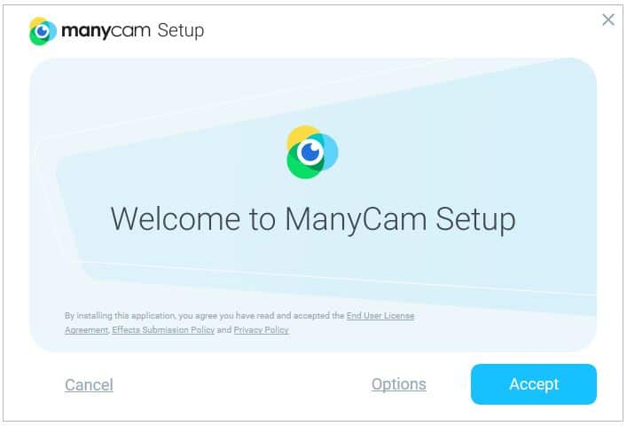 Instalação do software Manycam