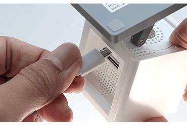 Conecte o cabo USB