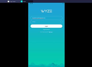 Login no Wyze App