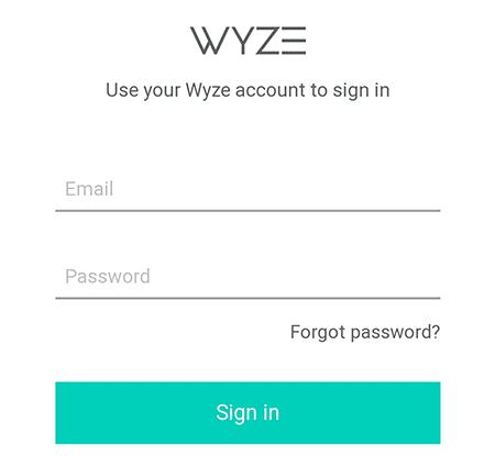 Tela para entrada de credenciais