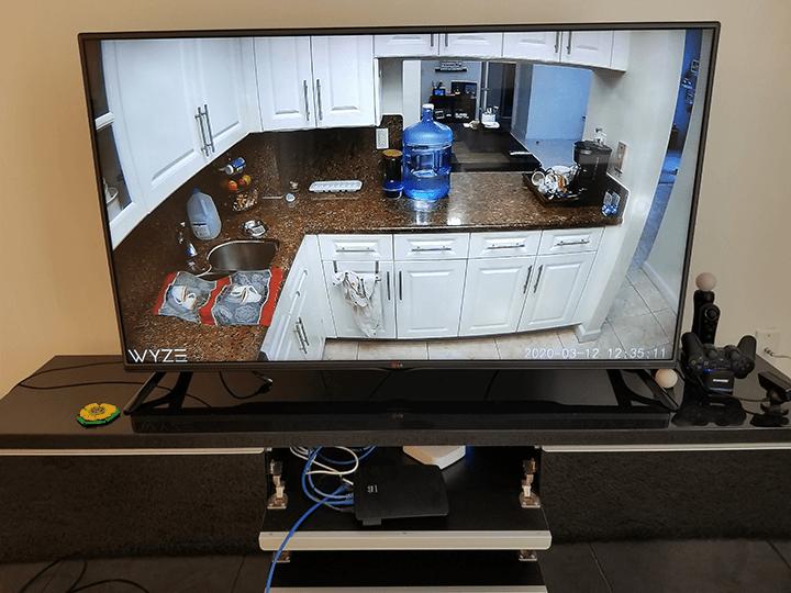 Wyze Cam na TV via Chromecast