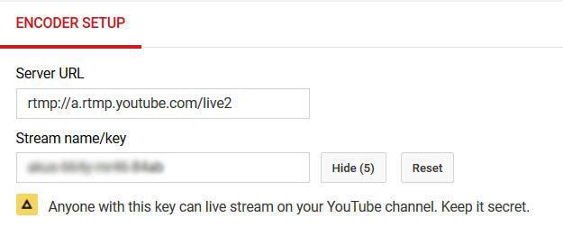 Encoder do YouTube