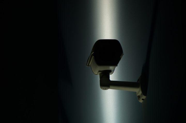Câmera de segurança no escuro