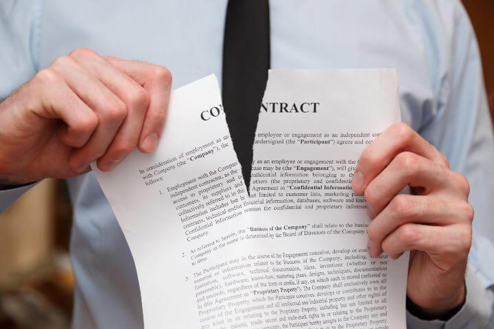 cancelar um contrato de monitoramento