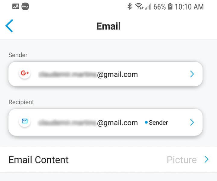 Configuração do email
