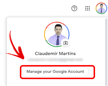 Gerenciamento de conta do Google