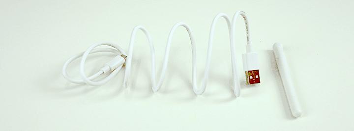 Reolink Argus PT - Cabo USB e antena