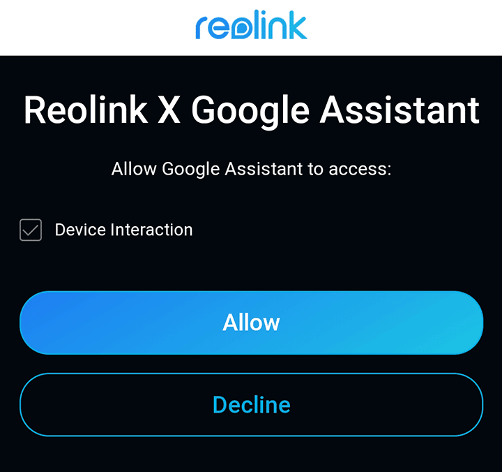 Reolink e Google Home Assistant