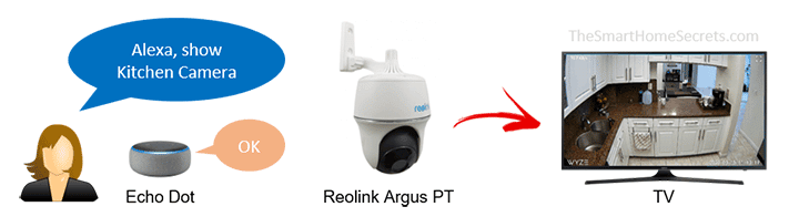 Câmera Reolink funcionando com Alexa