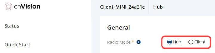 Modo Hub ou client