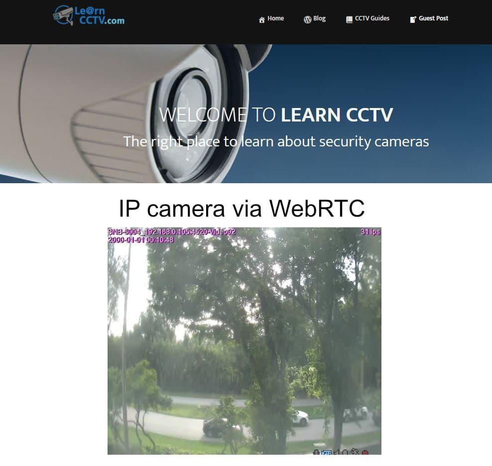 câmera IP no site