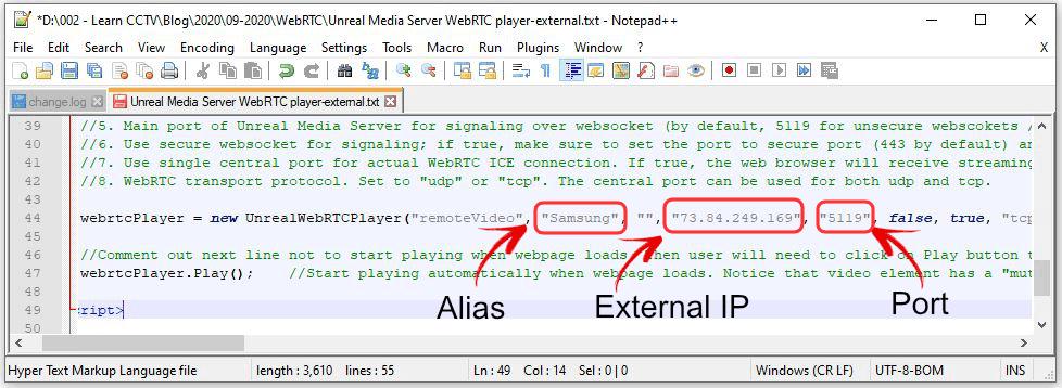 Unteal Media Server código para acesso externo