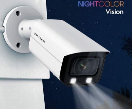 Visão noturna com holofote