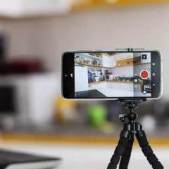 Celular convertido em câmera de segurança