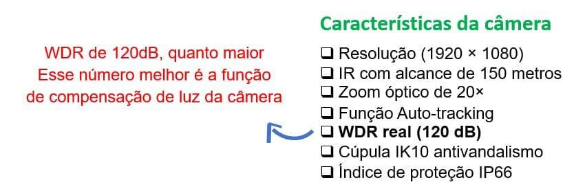 Exemplo de catálogo de câmera com WDR
